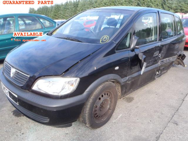 2002 VAUXHALL ZAFIRA CLUB    Parts